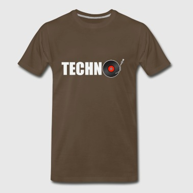 techno music - Men's Premium T-Shirt