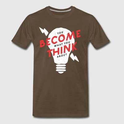 You become what You think about, light bulb - Men's Premium T-Shirt