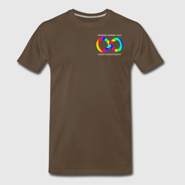 Embrace Neurodiversity with Swirl Rainbow - Men's Premium T-Shirt