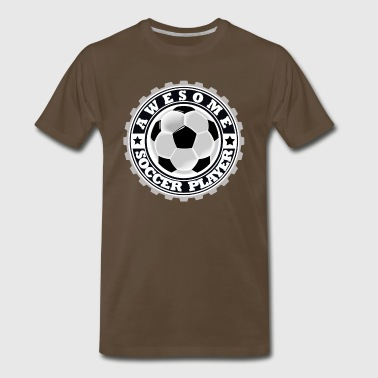 Symbol of an Awesome Soccer Player - Men's Premium T-Shirt