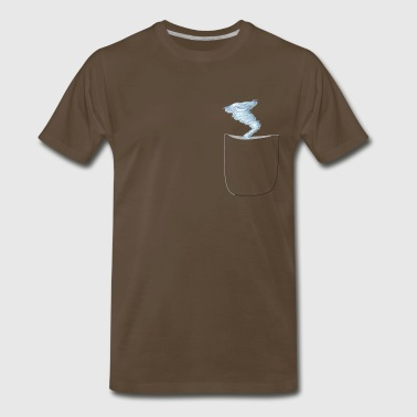 Funny Realistic Strom In A Pocket Design - Men's Premium T-Shirt