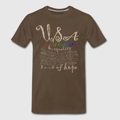 USA-paleletters - Men's Premium T-Shirt