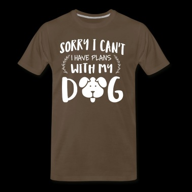 Plans with my Dog t-shirt - Men's Premium T-Shirt