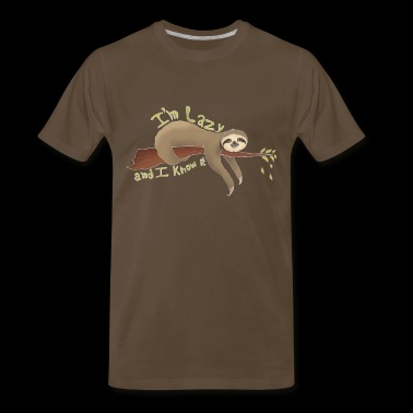 Lazy Sloth Hanging Up - Men's Premium T-Shirt