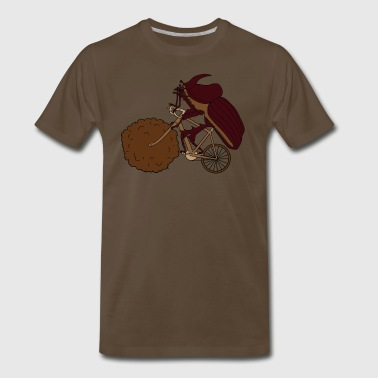 Dung Beetle Riding Bike With Dung Wheel - Men's Premium T-Shirt