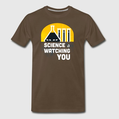 Science is watching you - Men's Premium T-Shirt