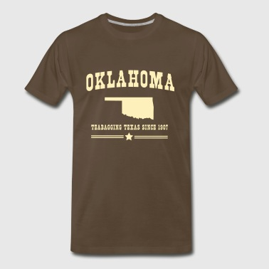 Oklahoma. Teabagging Texas since 1907 - Men's Premium T-Shirt
