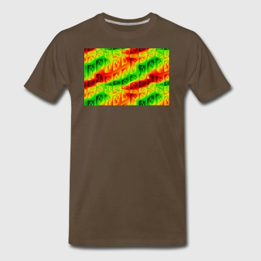 Reggae Rastafarian Flag Colors - Men's Premium T-Shirt