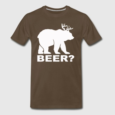 Bear Deer BEER humor - Men's Premium T-Shirt