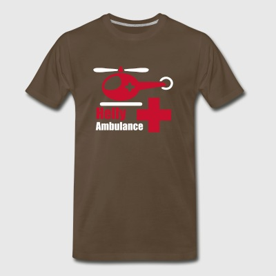 Helicopter Ambulance funny tshirt - Men's Premium T-Shirt