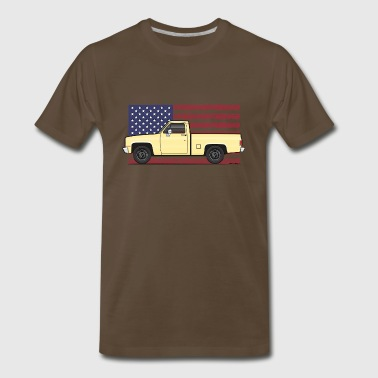 1981-87 American Yellow truck - Men's Premium T-Shirt