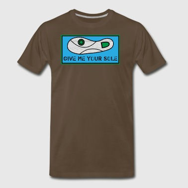 Give Me Your Sole Blue and Green - Men's Premium T-Shirt