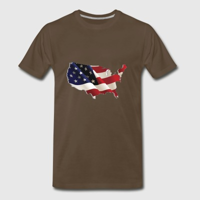 USA flag Tshirt - Men's Premium T-Shirt