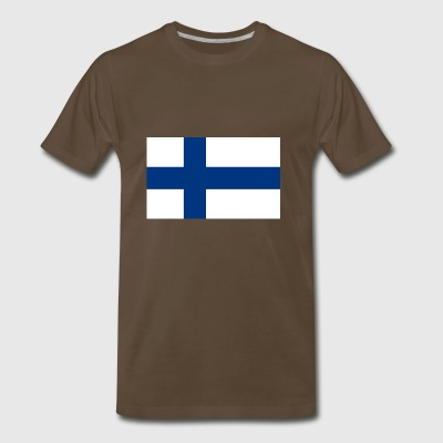 Finland country flag love my land patriot - Men's Premium T-Shirt