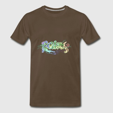 fairy doodle art romantic flowers fantasy letters - Men's Premium T-Shirt