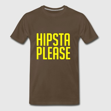 GIFT - HIPSTA PLEASE YELLOW - Men's Premium T-Shirt
