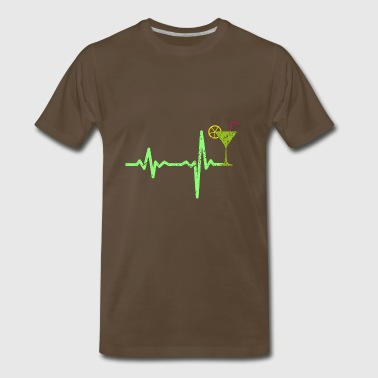 gift heartbeat cocktail 02 - Men's Premium T-Shirt