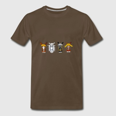 funny german horses comic - Men's Premium T-Shirt