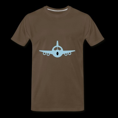 2541614 15448723 flugzeug - Men's Premium T-Shirt