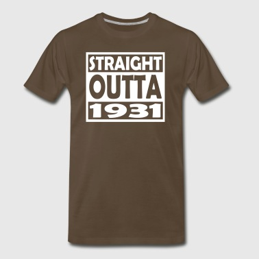 86th Birthday T Shirt Straight Outta 1931 - Men's Premium T-Shirt