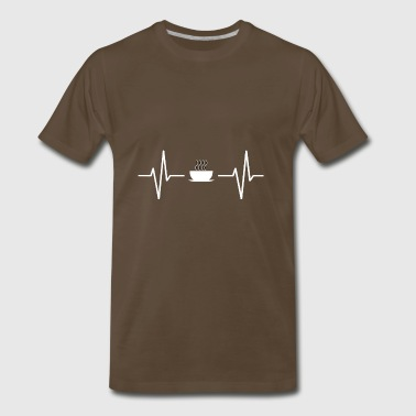 My heart beats for coffee! gift - Men's Premium T-Shirt