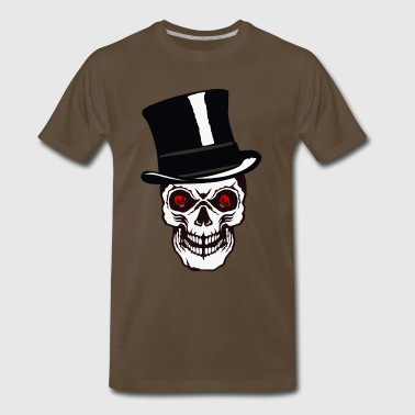 skull head of death hat eye crane bad - Men's Premium T-Shirt