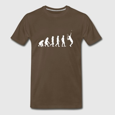 The evolution of tennis player - Men's Premium T-Shirt