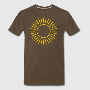 Sun with rays - Men's Premium T-Shirt