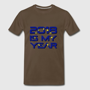 European flag with 2018 is my year. - Men's Premium T-Shirt