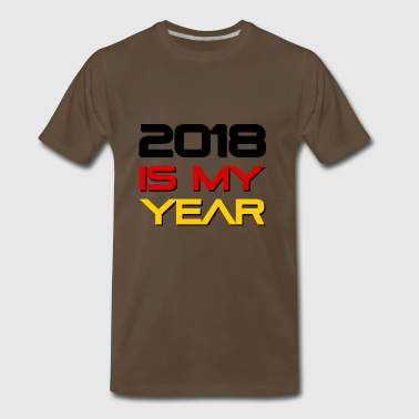 German flag with 2018 is my year. - Men's Premium T-Shirt