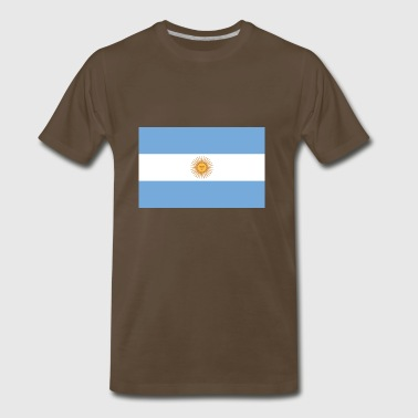 Argentina country flag love my land patriot - Men's Premium T-Shirt