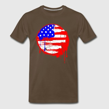 Grunge Flag - Men's Premium T-Shirt