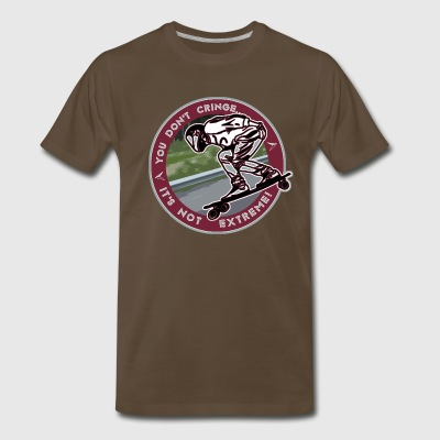 You Don't- It's Not (Maroon Circle) - DH Sk8 - Men's Premium T-Shirt