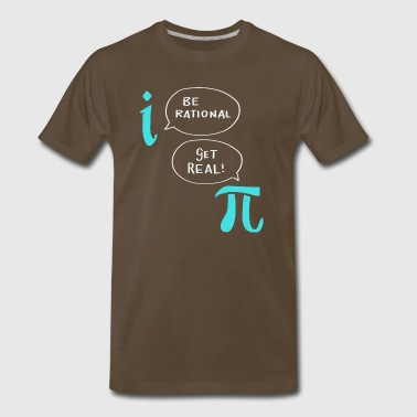 Funny Nerdy Math Shirt Be Rational Get Real Gift - Men's Premium T-Shirt