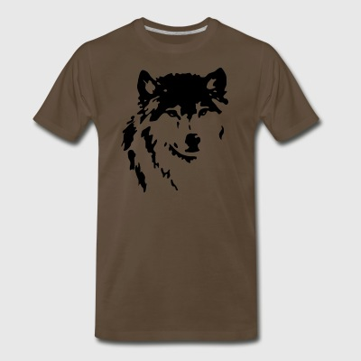 Wolf Black - Men's Premium T-Shirt