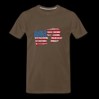 American Flag Pennsylvania Deer Hunting Distressed - Men's Premium T-Shirt
