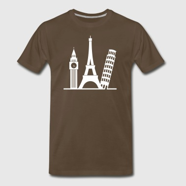 Europe / London,Paris,Pisa - Men's Premium T-Shirt