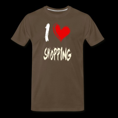 I love SHOPPING - Men's Premium T-Shirt