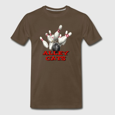 Bowling Team Alley Cats - Men's Premium T-Shirt