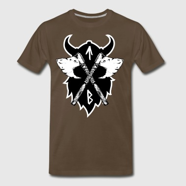 Vikings Viking Axe, Greeting from Valhall - Men's Premium T-Shirt