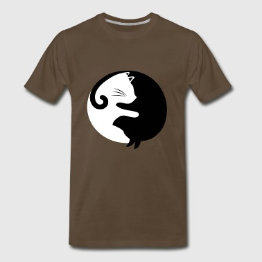 Cat Yin Yang - Men's Premium T-Shirt