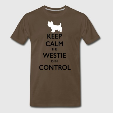 Keep Calm the Westie is in Charge - Men's Premium T-Shirt