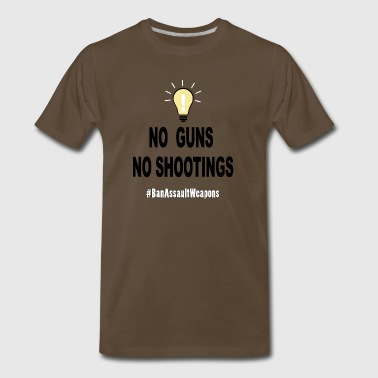 No Guns No Shootings - Men's Premium T-Shirt