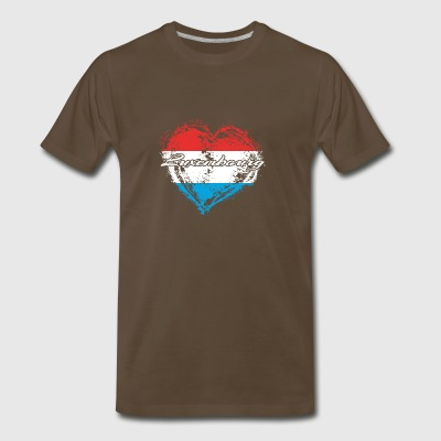 HOME ROOTS COUNTRY GIFT LOVE Luxembourg - Men's Premium T-Shirt