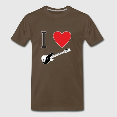 I love bass - what else? Bass is passion - Men's Premium T-Shirt