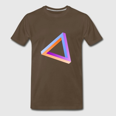 Impossible triangle visual optical illusion - Men's Premium T-Shirt