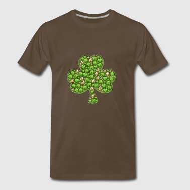 kleeblatt glueck shamrock luck four leaf clover51 - Men's Premium T-Shirt