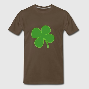 kleeblatt glueck shamrock luck four leaf clover21 - Men's Premium T-Shirt