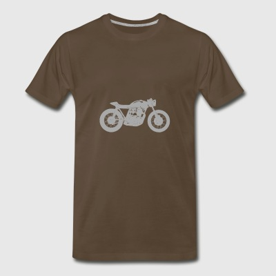 Cafe Racer - Grey - Men's Premium T-Shirt