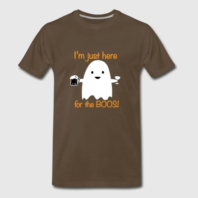 Haloween Shirt Funny Im just Here For The Boos - Men's Premium T-Shirt